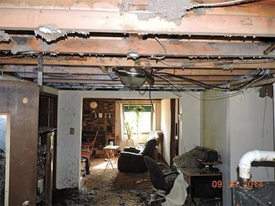 Fire Damaged Residential Home