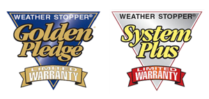 weather stopper badges